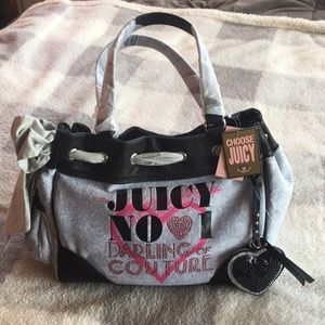 Brand New Juicy Couture Pink, Gray, Black Handbag
